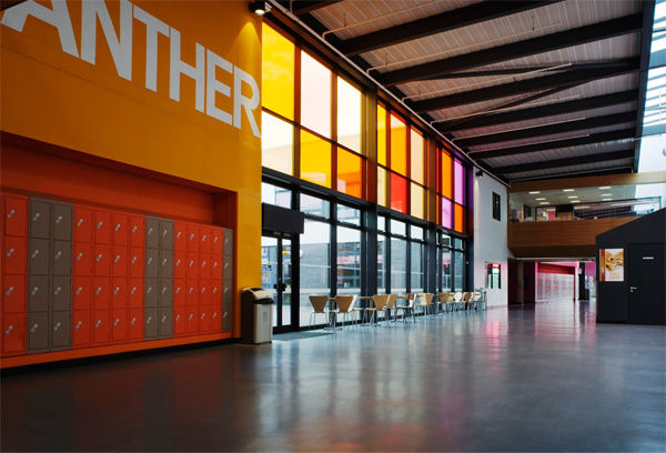 Brislington Enterprise College (Bristol) interior, part of the Building Schools for the Future (BSF) initiative.